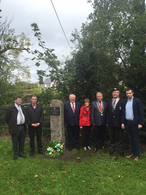 Unveiling of 1916 Memorial Plaque, Sunday 10th September 2017.